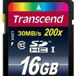 Transcend Extreme-Speed SDHC 16GB Class 10, Speicherkarte (bis 20MB/s Lesen) [Amazon Frustfreie Verpackung]