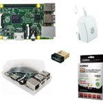 Starter 4er Set : Raspberry Pi 2 Model B / offizielles Raspberry-Pi 2A Netzteil / transparentes Gehäuse / Wifi Wlan Dongle Edimax 7811