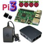 Raspberry Pi 3 Model B Bundle / Starter Set mit offiziellem Gehäuse, 2,5A Netzteil und Kühlkörper